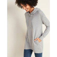 Sweater Old Navy French Terry Pullover Tunic Hoodie Grey Original