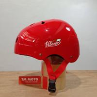Helm SEPEDA VITANO RED - Lipat / MTB / BMX / Skateboard / Skuter