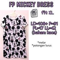 FP Mickey Dress XXL baju terusan wanita ukuran jumbo santai lucu