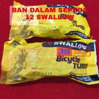 BAN DALAM SEPEDA 12 1/2 X 2 1/4 2125 SWALLOW 12 1/2X2 1/4 12X2125