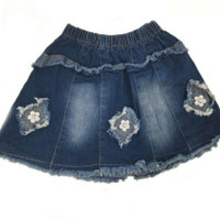 rok jeans anak cewek - 1-3