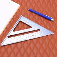 Penggaris Siku Mistar Triangle Ruler Alumunium Tukang Sekolah