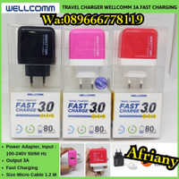 Travel Charger Wellcomm Fast Charging 3.0A Micro USB