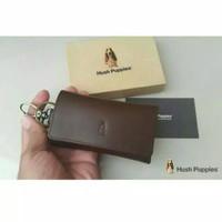 Dompet STNK Gantungan Kunci Mobil / Motor Hush Puppies 100% Kulit Asli - Cokelat