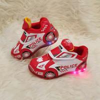 Sepatu anak Laki-laki LED / Karakter mobil sport / Record lampu anak