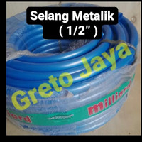 "(1/2"") Selang METALIK Tebal Kran Air Super Flex Slang SuperFlex inch"