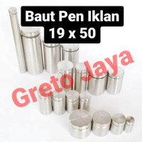 (19x50) Baut Pen Iklan 19 x 50 mm Sign Board Akrilik Acrylic Reklame