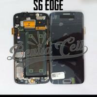 Samsung S6 Edge G925 LCD 1 Set 1Set Original Kontras Hitam Black