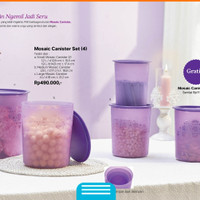 Tupperware Toples Ungu Set Mozaic Canister