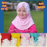 Hijab Bayi Bunga Pinggir - Jilbab Anak Bayi 0-3Th