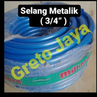 "(3/4"") Selang METALIK Tebal Kran Air Super Flex Slang SuperFlex inch"