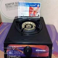 KOMPOR GAS 1 TUNGKU SAPPORO KGS FFL API JUMBO