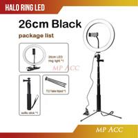 Lampu Halo Ring Light LED Selfie 120 LED Smartphone Holder Tripod