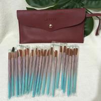 [new] brush set JBS free dompet isi 20 pcs kuas makeup lembut