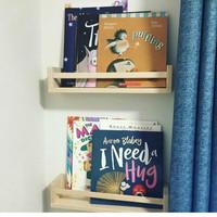 Rak Buku Majalah Kayu Gantung 30cm