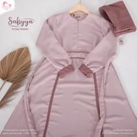 Baju Muslim Gamis Wanita Safiyya Dress Original Salvinahijab - Rossy Brown, XS