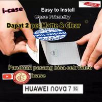 Anti Gores / Screen Protector Huawei Nova 7 - dapat 2 clear dan glare