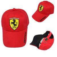 Topi Snapback / Baseball Ferrari Premium High Quality Impor - Hitam