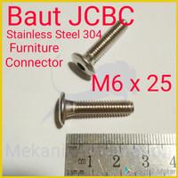 Baut JCBC M6 x 25 SUS304