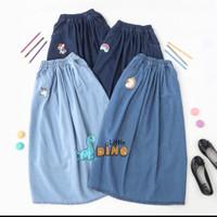 Rok Jeans Panjang Anak Perempuan 6-10th