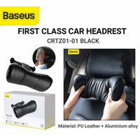 Baseus First Class Car Headrest Bantal Leher Mobil Cushioning