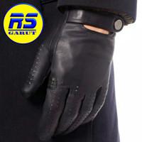 Sarung tangan kulit asli sarung tangan motor (RS-301) - Hitam, S