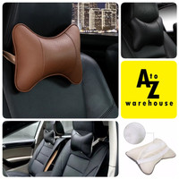 Bantal Leher Mobil Car Headrest Universal Kulit Empuk