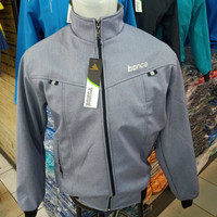 JAKET BONCA ORIGINAL WATERPROF (ANTI AIR) 007 UKURAN JUMBO M-6XL - Abu-abu, L