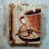 Poster Lukisan Kopi Coffee Cafe Resto Kitchen Hiasan Dinding