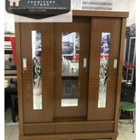 lemari pakaian 3 pintu sliding Multiplek
