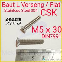 Baut L Flat M5 x 30 Verseng SUS304