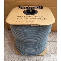 Bulu Moher Besar 11 x 7 mm Mohair Seal Celah Pintu Aluminium