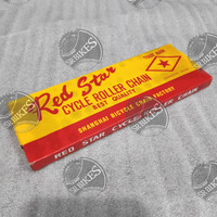 Rantai Sepeda Single Speed 114L Fixie Onthel BMX. RED STAR BINTANG
