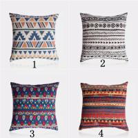 Sarung Bantal Sofa Desain Bohemian Asia Bahan Katun Linen