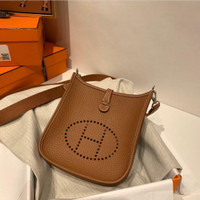 tas hermes evelyne mini Full Leather Handmade Mirror Vip quality