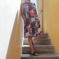 dress linen santai ikatsawiji