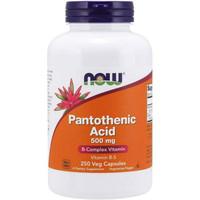 now pantothenic acid 500mg 500 mg 250 caps vitamin b5 vit b5