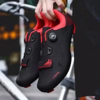 Sepatu Bersepeda jalan Pria Terbuka Olahraga Sepatu Sepeda