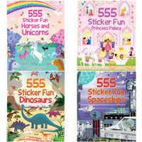 555 Sticker Fun Unicorn or Princess buku stiker anak sticker book