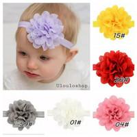 Bandana bayi headband sifon bunga bando bayi bunga flower