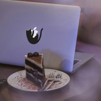 Cutting sticker laptop macbook pro air kucing cat lucu unik keren