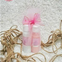 souvenir isi 2 botol sabun shampo hand body lotion dalam botol 30ml