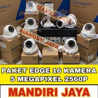 PAKET CCTV EDGE 16 CHANNEL 16 CAMERA 5MP FULL HD KOMPIT HDD 2TB