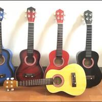 Ukulele 4 String All Color Varian - Hitam