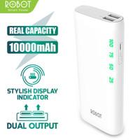 UBU Power Bank ROBOT RT130 10000MAH 2USB Ports Dgn LED Display Putih