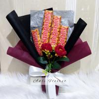 Buket Cokelat silverqueen snack bouquet hadiah wisuda ultah unik kado