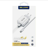 Charger Wellcomm Super Fast Charging Type C 5V 3A 18W Original