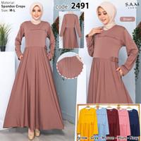 baju gamis wanita terbaru/baju gamis wanita murah/dress muslim wanita