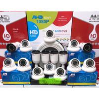 PAKET CCTV 16 CHANNEL 16 KAMERA 5MP 1080p KOMPLIT TINGGAL PASANG BRO
