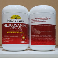 Natures Way Glucosamine + Fish Oil 500 Mg 200 Caps Import Ausie